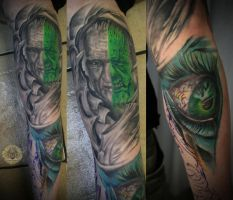 Grandfather Zombie Portr. eye by 2Face-Tattoo