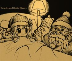 Touhou:Frandre and Santa Claus by Diwali86