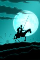 Quixote Rides Into The Night by flowbug