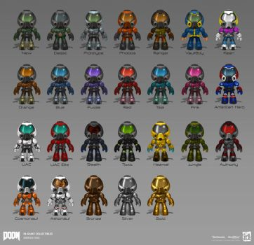 DOOM - In Game Collectibles by emersontung