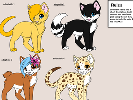 ~Adoptables Open ~ by Rainmask-forever