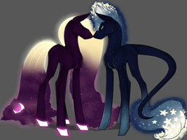 .:|Luna and Star|:. by silent-umbra