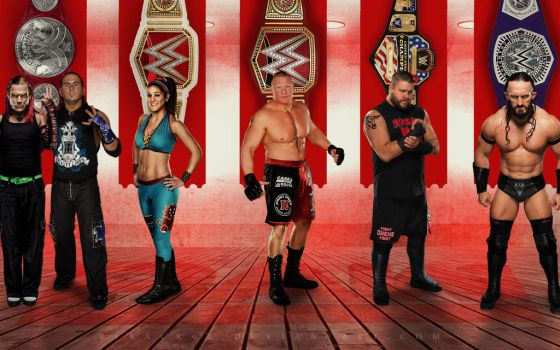 WWE RAW CHAMPS WALLPAPER by byback92