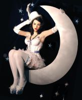 girl on the moon by plastik-star