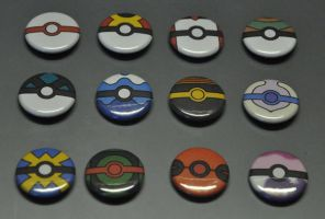 Pokeball Pins Batch 02 by Lugidog