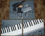 Baby Grand Piano by Treekami