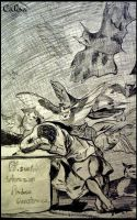 De Goya and his darkness with by calisa