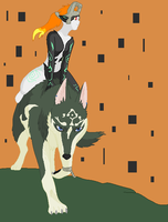 WolfLink + Midna by silver-hedgehog123