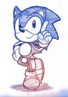 Classic Sonic sketch by rongs1234