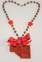 Chocolate Bar Necklace by sweetmildred