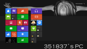 My Windows 8 Start Screen by 351837