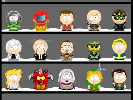 My own South Park characters 1 by Zwerg-im-Bikini