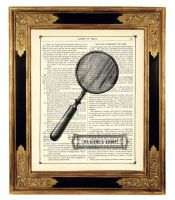 Sherlock Holmes magnifier by curiousprintery