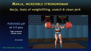 Marja, feats of weightlifting, snatch  clean-jerk by eurysthee