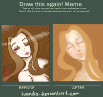Draw this again!! meme Clio sleeping beauty by ivando