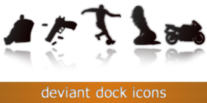 9 deviant dock icons by g0dspeed91