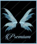 Blue Transparent wings png by TinaLouiseUk