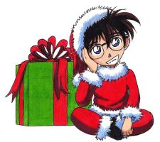 Christmas Conan by FullmetalDevil