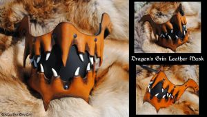 Dragon's Grin Leather Mask by Epic-Leather