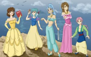 Yu Yu Hakusho Princesses by TheAnonymousPen