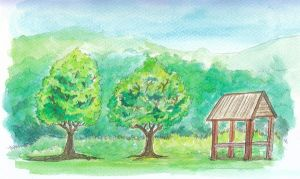 Two Trees and a Hut by ujangzero