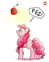 Pinkie and FEZ! by norang94
