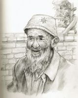 Old Chinese Man by buraisuko