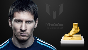 Messi - The Golden Foot by Lord-Iluvatar