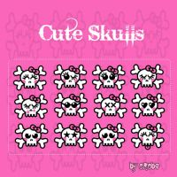 Cute Skulls by KrisPS