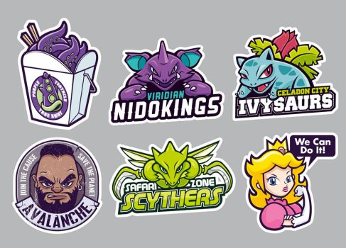 Parody Stickers  by cronobreaker