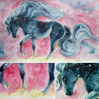 starry horse by Fennethianell