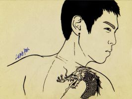 TOP with the G-Dragon tattoo xD by lera-park