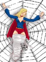 Supergirl in SpiderWeb by roemesquita