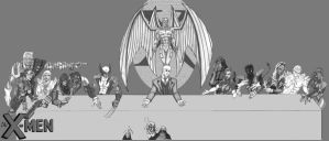 X-Men The Last Supper by lordmylar06