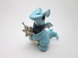 Winter Key Keeper Dragon by KriannaCrafts