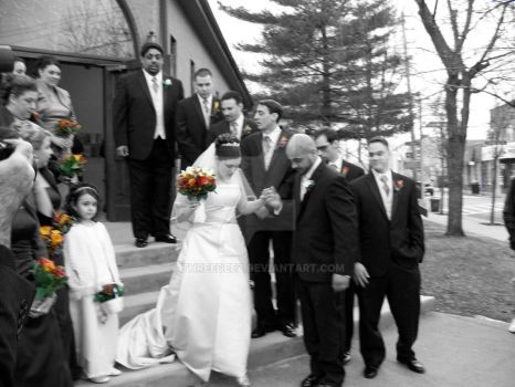 Wedding Photo - Outside Church by threedeez