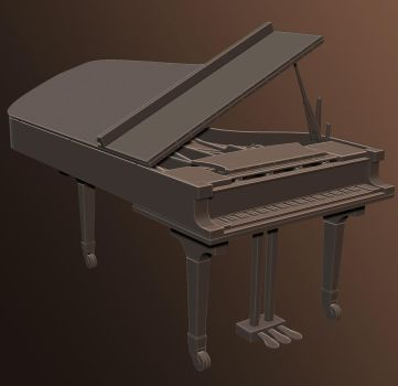 High Poly Piano 2 by dudealan2001