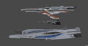 Comparison Turian Frigate VS Alliance Cruiser by nach77