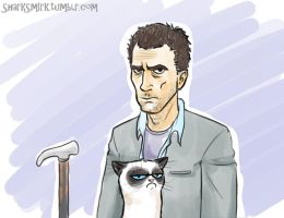 A man and his cat by SharkSmirk