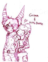 Grimm and Dipple Dapple by FuneralDyingheart