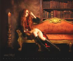 Invitation for a drink - Vampiress by annewipf