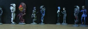 Mass Effect 1 misc characters by virtualmorrigan