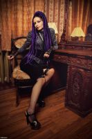 Violet dreads by Angelwhore-Wild