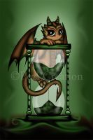 Dragon on Hourglass by PeziCreation