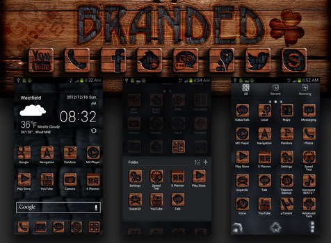Branded Wood GO Launcher Theme by cddoulos