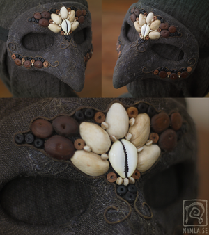 Beaded Bird Mask by Nymla