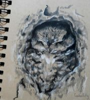 Owl Sketch by CosmosKitty