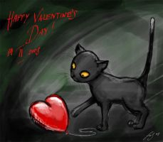 Valentine the Cat by LeafOfSteel