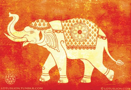 White Elephant of Siam by Naryu