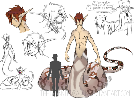 naga dude concept by twinkiedragon